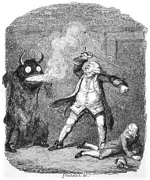English: Davy Jones, sea devil described by To...