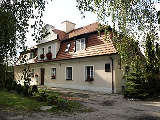 Wisława Szymborska - The building where Wisława Szymborska was born, in Prowent, now part of Kórnik, Poland