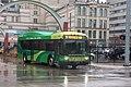 Dayton Gillig BRT hybrid bus 1002 leaving Wright Stop Plaza on route 9.jpg