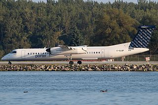 Porter Airlines a regional airline headquartered at Billy Bishop Toronto City Airport