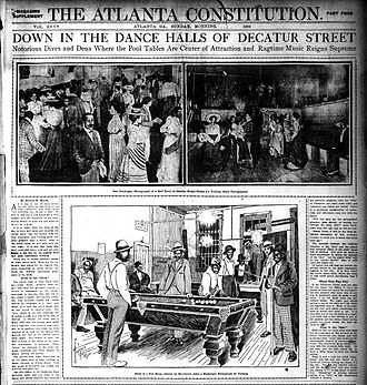 Decatur Street (Atlanta) - Atlanta Constitution 1902 exposé on black nightlife in Decatur Street