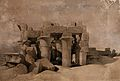 Decorated columns of the ruins at Kom Ombo, Egypt. Coloured Wellcome V0049358.jpg
