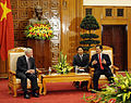 Defense.gov News Photo 101011-F-6655M-010 - Secretary of Defense Robert M. Gates talks with Vietnamese Prime Minister Nguyen Tan Dung in the prime minister s office in Hanoi Vietnam on Oct.jpg