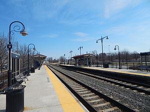 Delanco (River Line station) - Delanco station in April 2015.