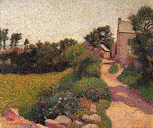 Henri Delavallée - Image: Delavallee La Rue au soleil 1887