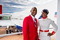 Delta people celebrate opening of '747' exhibit (33682621156).jpg