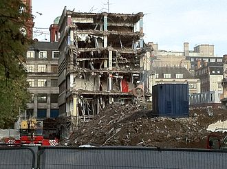 New Broadcasting House (Manchester) - New Broadcasting House being demolished in 2012.