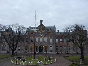 Royal Naval College (Netherlands) - Image: Den Helder Fors gebouw anno 1869