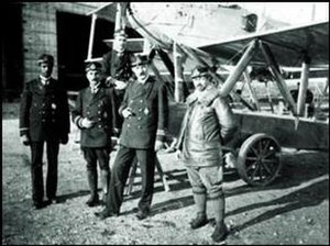Ahmet Ali Çelikten - Ottoman naval aviators of the Naval Flight School (Deniz Tayyare Mektebi) at Aya Stefanos; left to right: pilot Ahmet Ali (Çelikten), Sami (Uçan), İhsan and observer Hüseyin Kâmil (Görgün).