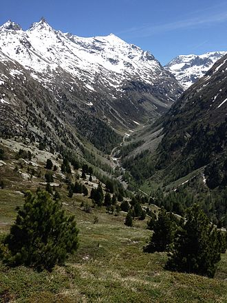 Maurienne - The crystalline range of Ambin and one of its numerous wild valley in Maurienne.