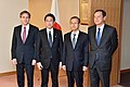 Deputy Secretary Blinken, Japanese Foreign Minister Kishida, Japanese Vice Foreign Minister Saiki, and South Korean First Vice Foreign Minister Lim Pose for a Photo Following Their Trilateral Meetings in Tokyo (24119154229).jpg