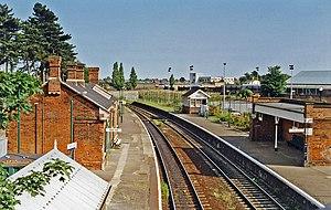 Derby Road railway station - View eastward, towards Felixstowe, in 1997