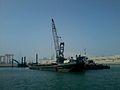 Des dragues en action au port de Casablanca.jpg
