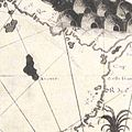 Desceliers 1550 map - detail showing Arenes.jpg