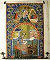 Descent into Hell. John the Evangelist. Vani Gospels A-1335, 210v, 12th c.jpg