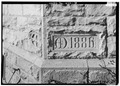 Detail of corner stone - St. Mark's Episcopal Church, 1908 Central Avenue, Cheyenne, Laramie County, WY HABS WYO,11-CHEY,3-7.tif