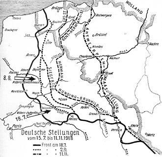 Hindenburg Line - Image: Deutsche Stellungen 1918