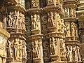 Devi Jagdambi Temple Khajuraho - Outer Wall 01.JPG