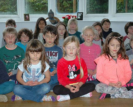 Dharma Primary School - Children Meditating 2015