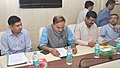 Dharmendra Pradhan along with the Union Minister for Chemicals and Fertilizers, Shri Ananthkumar reviewing various projects involving the two ministries, in New Delhi. The Minister of State for Chemicals and Fertilizers.jpg