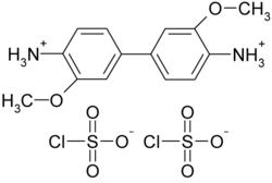 Struktur des o-Dianisidinchlorsulfonat