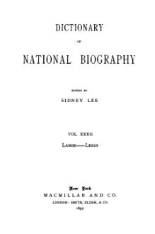Dictionary of National Biography volume 32.djvu