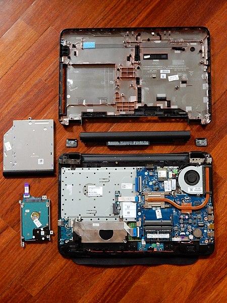 File:Disassembled laptop.jpg