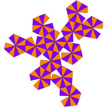 Развёртка гекзакисикосаэдра