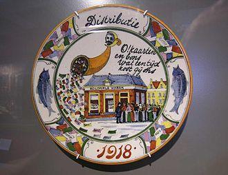 1917 Potato riots - Memorial board