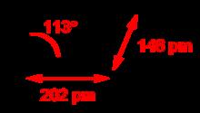 structura dioxidului de disulfur, S2O2