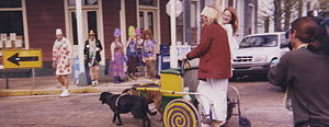 Carting - Dog cart during Mardi Gras in New Orleans