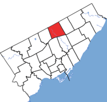 Don Valley North in relation to the other Toronto ridings (2015 boundaries).png