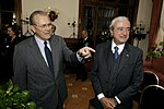 Donald Rumsfeld and Italian Minister of Defense Antonio Martino, 2006.jpg