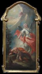 Elia nel deserto svegliato dall'angelo