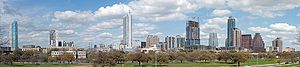 A panorama of downtown Austin, Texas, United S...