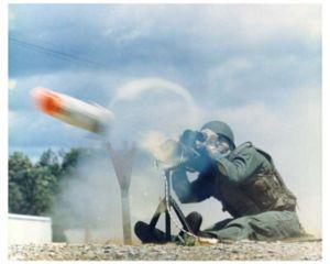 M47 Dragon - A U.S. Army soldier firing M47 Dragon.