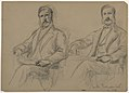 Drawing, Julius Hallgarten Seated, Two Studies; Verso- Mr. Hunt Standing, 1884 (CH 18566731).jpg