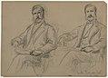 Drawing, Julius Hallgarten Seated, Two Studies; Verso- Mr. Hunt Standing, 1884 (CH 18566731).jpg