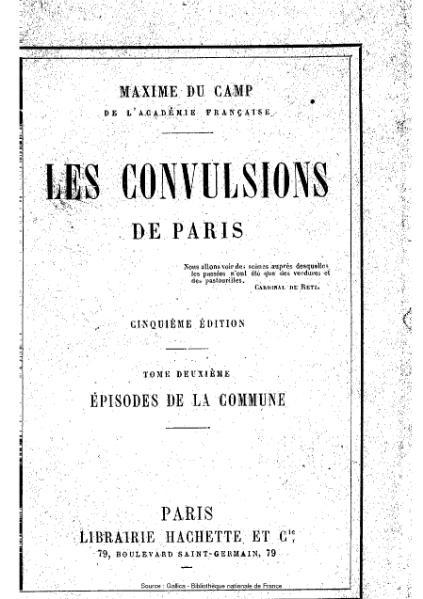 File:Du Camp - Les Convulsions de Paris, tome 2.djvu