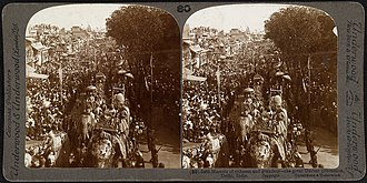Chandni Chowk - Procession of King Edward VII and Queen Alexandra as Emperor and Empress of India, 1903 Delhi Durbar