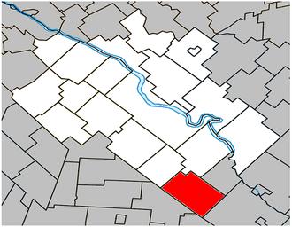 Durham-Sud - Image: Durham Sud Quebec location diagram