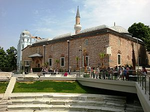 Islam in Bulgaria - Dzhumaya Mosque was built in 1363–1364 in Plovdiv.
