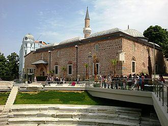 Islam in Bulgaria - Dzhumaya Mosque was built in 1363–1364 in Plovdiv.