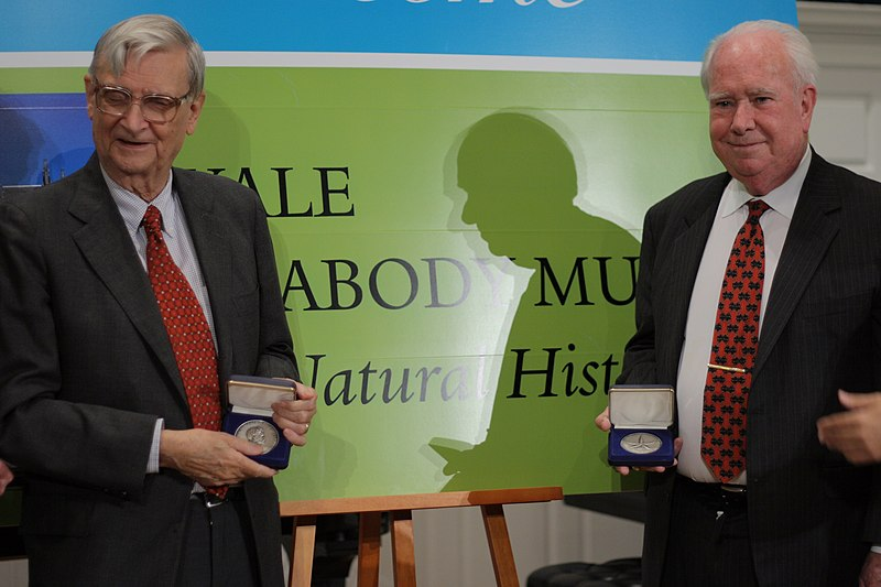 File:E. O. Wilson and Peter Raven with medals, October 16, 2007.jpg
