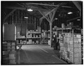 EAST AISLE, INTERIOR, LOOKING SOUTH - Fort Monroe, Building No. 168, Murray Street, Hampton, Hampton, VA HABS VA,28-HAMP,2F-7.tif