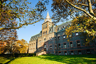 Stevens Institute of Technology - The historic Edwin A. Stevens Building, home to the Charles V. Schaefer, Jr. School of Engineering and Science.