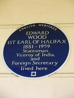 Edward wood 1st earl of halifax 1881 1959 statesman, viceroy of india, and foreign secretary lived here