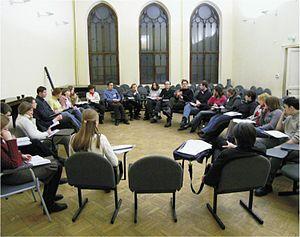 European University at Saint Petersburg - Debates in the conference hall, 2004