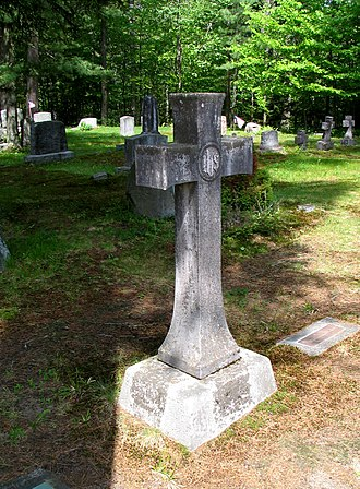 Edward Livingston Trudeau - Trudeau's gravesite, St. Johns in the Wilderness Church, Paul Smiths, New York