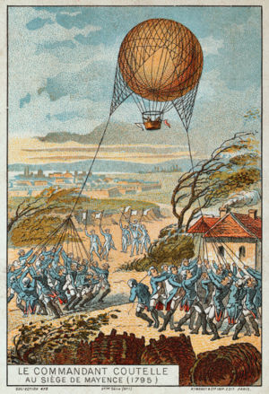 Jean-Marie-Joseph Coutelle - « Colonel Coutelle with his balloon during the siege of Mainz. »